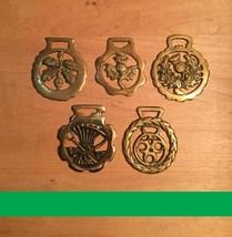 Vintage 80s original Horse Brasses (Sets of 5) from England image 3