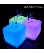 "Modern Home LED Glowing Cube Box Stool w/Infrared Remote Control - 16"" - $98.81"