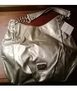 Nine West Pewter Hobo Silver Chain Detail Handbag Brand New With Tags SALE - $14.99