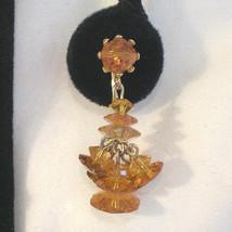 Vintage Swarovski Crystal Chandelier Flower Bead Earrings - $60.00