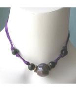 Vintage Kim Craftsman EDC Hippie Handpainted Bead Necklace 70s Beaded Sa... - $22.00