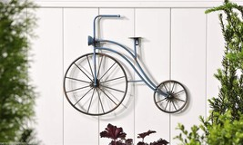 "21"" Painted Iron Vintage Look Bicycle Design Wall Plaque - Black Spoke Wheels - $55.43"