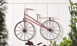 "26"" L Painted Iron Vintage Look Bicycle Design Wall Plaque - Black Spoke Wheels - $59.99"
