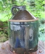 Antique Solid Brown Glaze Jug Western Primitive Whiskey Vintage - $59.99