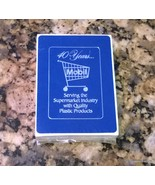 Mobil 40 years Serving the Supermarket Indusry Playing cards - $5.00