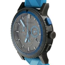 BU9812 Burberry The City Sport Men Watch Blue Rubber Gunmetal 42mm Chronograph image 5