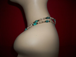 Fashion Treasure Jewelry Strand Brown And Blue Bead Necklace Women Accessory - $9.49