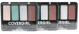 3 Ct Covergirl 0.19 Oz 224 Prom Queen 4 Palette Blendable Eye Enhancers Shadow - $21.99