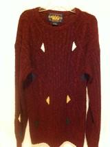 Ralph Lauren CHAPS Sweater In EUC Burgundy Color Size L Large  Linen/Cotton - $19.78