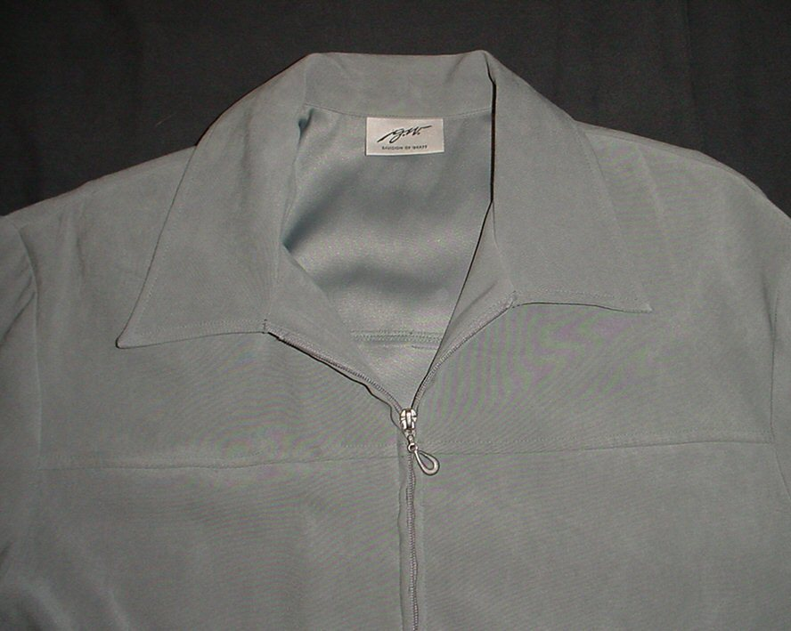GW Division Of  GRAFF Olive  Green SOFT Full zippered Jacket Sz 12