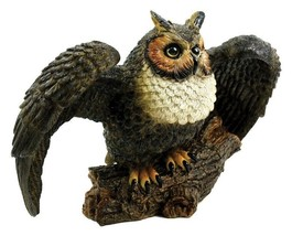 Great Horned Owl Garden Statue Sculpture Lawn Outdoor Art Pool Decor Yar... - $49.37