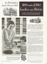 Royal Baking Powder 1933 Ad Features Philadelphia's Chestnut Hill Neighb... - $9.50