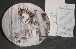 "Hamilton Year of The Wolf ""BROKEN SILENCE"" Porcelain Collector Plate w/COA - $20.00"