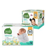 Seventh Generation Newborn Baby Bundle - 144 Diapers with Animal Prints ... - $54.90