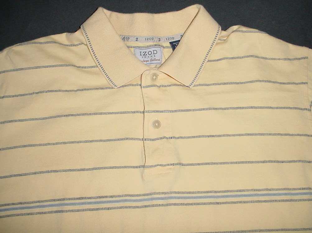IZOD  Jeans VINTAGE COTTON   Short Sleeve  Polo Shirt sz. L