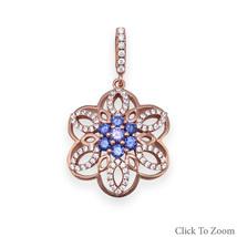 Rose Gold CZ Flower Pendant - $56.99