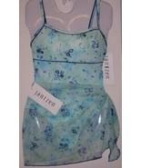 New Jantzen Blue Floral Print Pareo SarongCoverup - $17.00