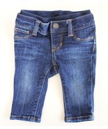 BABY GAP 1969 Infant Size 0-3 M Skinny Jeans Dark Wash Elastic Band - $19.77