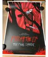 Friday The 13th The Final Chapter MONDO poster print By Jonathan Bartlet... - $85.45
