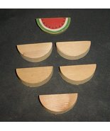 LOT of 5 Unfinished  Wood  WATERMELONS  NEW - $3.99