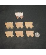 LOT of 6  MINIATURE Unfinished  Wood COVERED WAGON  NEW - $2.75