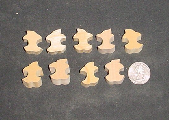 LOT of 9  MINIATURE Unfinished  Wood APPLE CORE  NEW