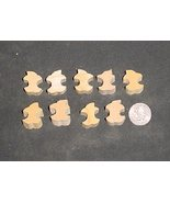 LOT of 9  MINIATURE Unfinished  Wood APPLE CORE  NEW - $2.75