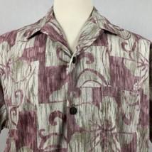 Hilo Hattie Hawaiian Shirt Men's XL Reverse Print Abstract Hibiscus Hawa... - $24.74