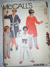 McCall's Boy's/Teen Boy's Robe Jacket & Pajamas Size Large #7679  1981 - $4.99