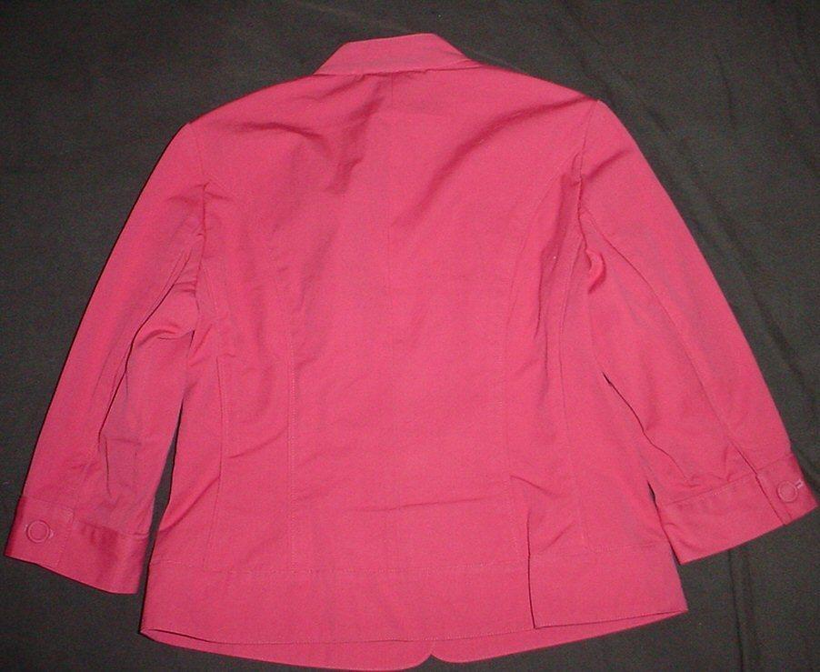 NWOT  COLDWATER CREEK  mauve Cotton 3/4 Sleeve Button Jacket sz P6
