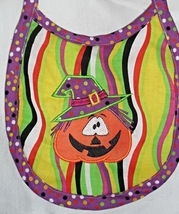Pumpkin Witch Baby Bib Handmade with PUL Backing - $4.99