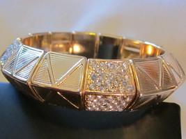 Pop Station Stretch Bracelet - Gold tone - Fits Most Wrists image 2