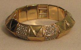 Pop Station Stretch Bracelet - Gold tone - Fits Most Wrists image 3