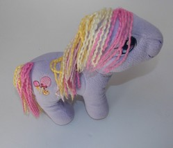 "My Little Pony Triple Treat Plush 9"" Stuffed Horse Purple Lavender Yarn ... - $21.77"