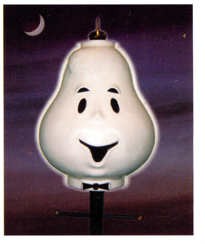 Halloween outdoor ghost face lamppost lightpost cover for Christmas decorations for outside lamp post