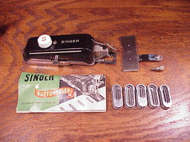 Singer Buttonholer Attachment, no. 160506, with instructions, 5 template... - $5.95