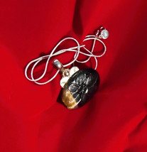 BOLD Oval Labradorite (?) & Silver Pendant with new silver chain - $35.00