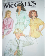 McCall's Misses Size 12 Blouses # 6409  1978 - $5.99