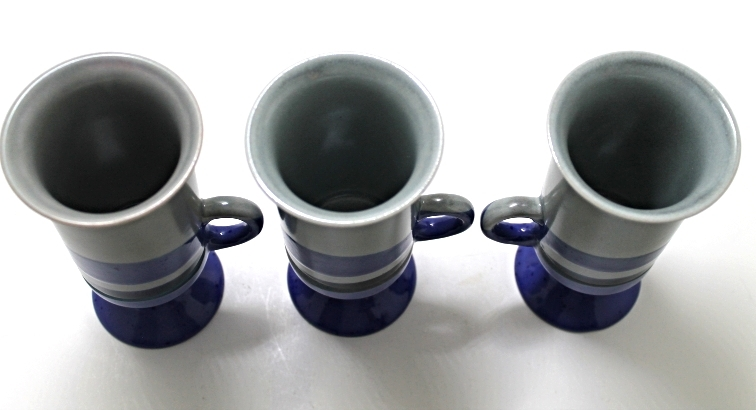 Vintage Otagiri Stoneware Pedestal Footed Irish Coffee/Cappuccino Mugs