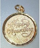 Vintage Happy Anniversary Charm LaMode Karat Cl... - $10.00