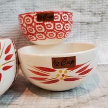 Nesting Measuring Cups, 4 piece set, Vintage ceramic, Temp-Tations Red Floral image 4