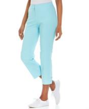 Jm Collection Women's  Curvy-Fit Lace-Up-Hem Capri Pants Bubble Size 10 - $9.90