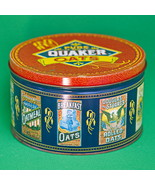 1983 Limited Edition Large Round Quaker Oats Collectible Metal Container - $3.95