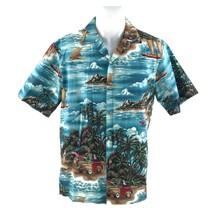 Styled BY RJC Men's Aloha Hawaiian Shirt Woodie Stationwagon Surf Hula U... - $18.54