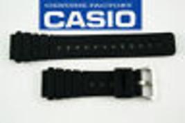 Genuine Casio Rubber Watch Band Black Strap 20MM AQ-100 AQ-100WG MRD-201 - $17.85