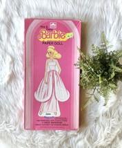Vintage Mattel 1983 Pretty & Pink Barbie Paper Doll in Box 100% Complete - $27.86