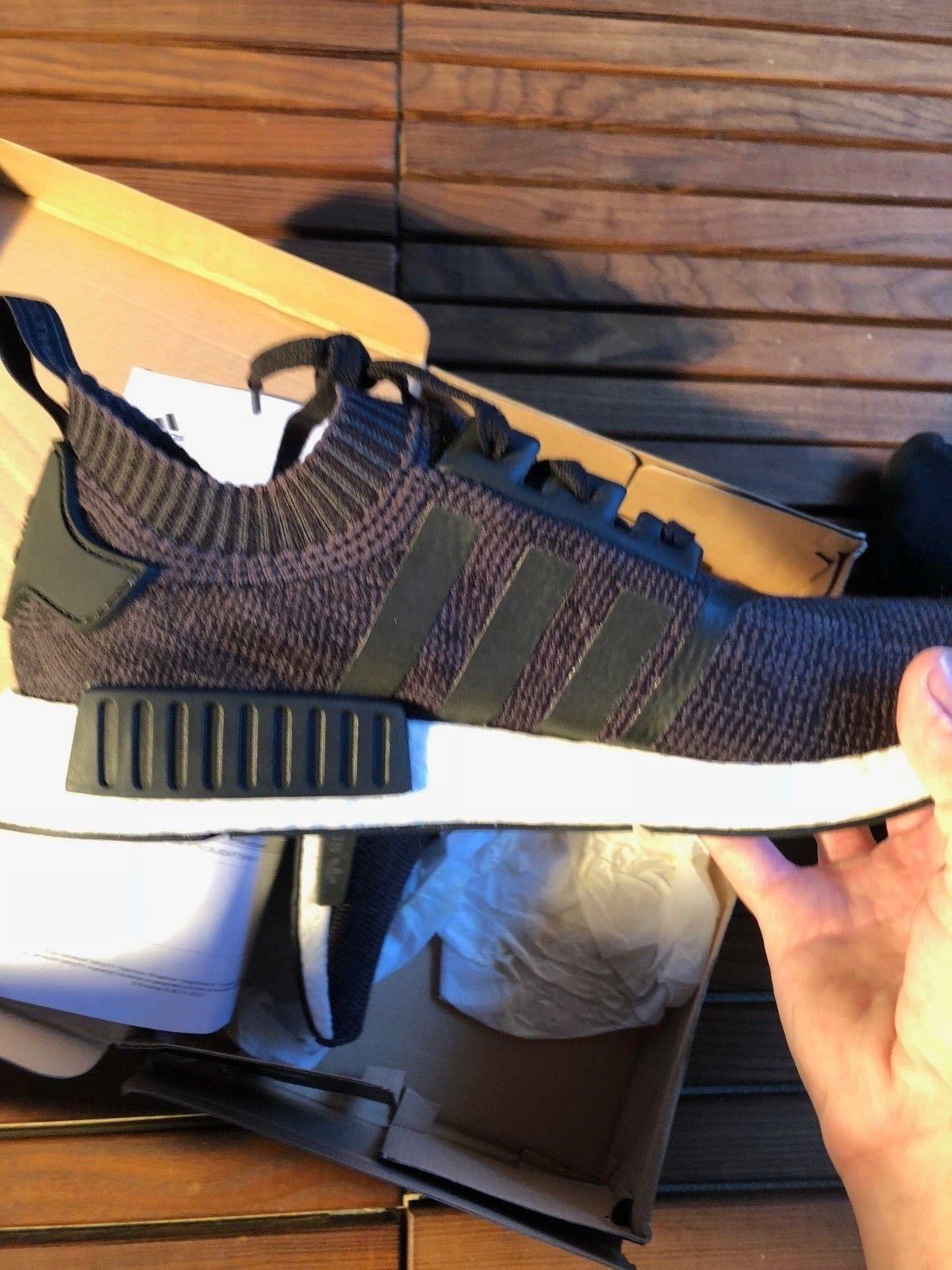 Adidas Black Primeknit Wool Runner Size 48 2/3 New