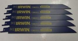 """Irwin 372818 8"""" 18 TPI Bi-Metal Reciprocating Saw Blades. 5pcs. USA - $7.43"""