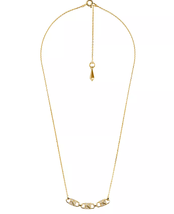 new MICHAEL KORS necklace Mercer Padlock Gold-Plated Sterling Silver chain locks - $84.05