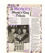 Tia Mowry Tamera Mowry teen magazine pinup clipping Mama's Day Tribute Bop - $1.50